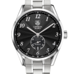 TAG HEUER CARRERA HERITAGE AUTOMATIC BLACK DIAL STEEL