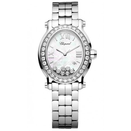 c99ed8222 Chopard Happy Sport Oval 7 Floating Diamonds 278546-3004 | Elite Watches